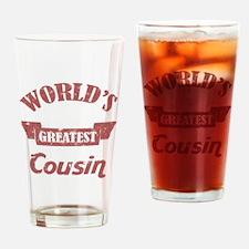 World's Greatest Cousin Drinking Glass