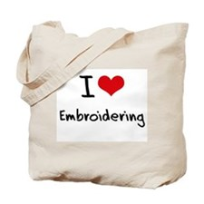 I love Embroidering Tote Bag