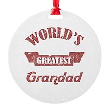 World's Greatest Grandad Round Ornament