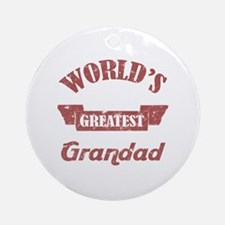 World's Greatest Grandad Ornament (Round)