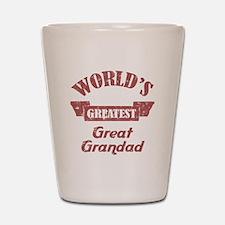 World's Greatest Great Grandad Shot Glass