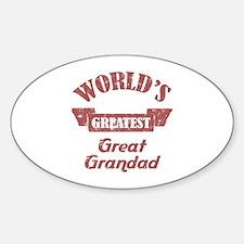 World's Greatest Great Grandad Decal