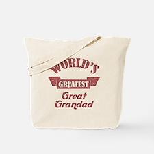 World's Greatest Great Grandad Tote Bag