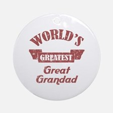 World's Greatest Great Grandad Ornament (Round)