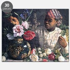 African Women with Peonie Puzzle