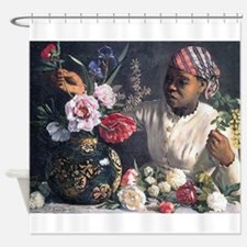 African Women with Peonie Shower Curtain