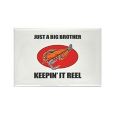 Big Brother Fishing Humor Rectangle Magnet