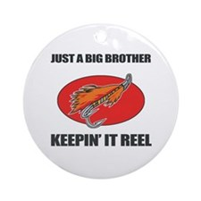 Big Brother Fishing Humor Ornament (Round)