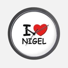 I love Nigel Wall Clock