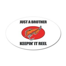 Brother Fishing Humor Wall Decal