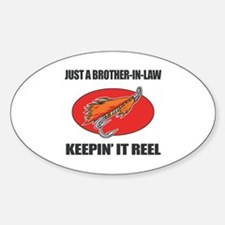 Brother-In-Law Fishing Humor Sticker (Oval)