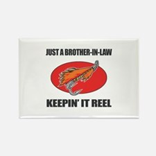 Brother-In-Law Fishing Humor Rectangle Magnet