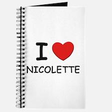 I love Nicolette Journal