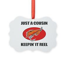 Cousin Fishing Humor Ornament
