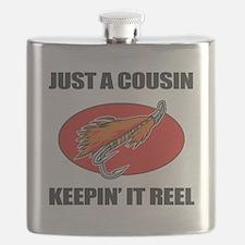 Cousin Fishing Humor Flask