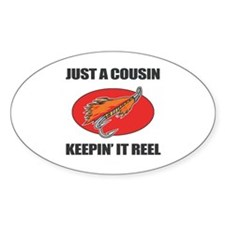 Cousin Fishing Humor Decal