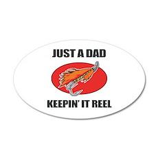 Dad Fishing Humor Wall Decal