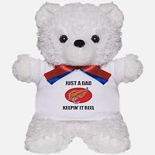 Dad Fishing Humor Teddy Bear