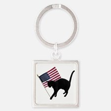 Cat American Flag Keychains