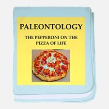 paleontology baby blanket