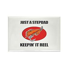 Stepdad Fishing Humor Rectangle Magnet