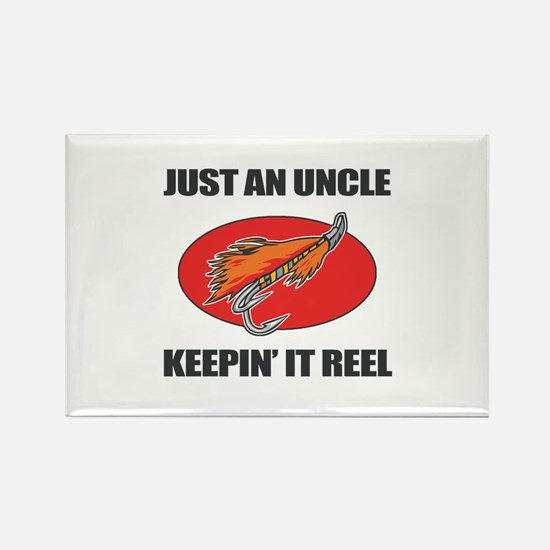 Uncle Fishing Humor Rectangle Magnet
