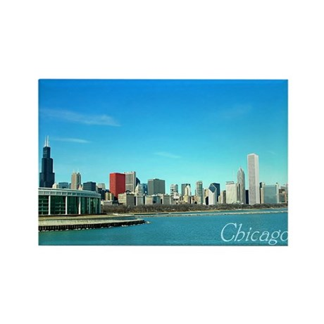 Chicago from the Museums Rectangle Magnet