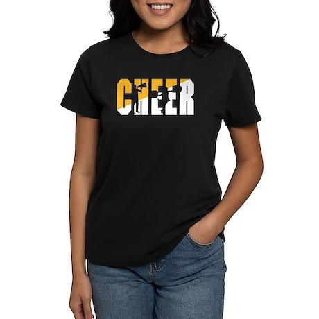 Cheer Women's Black T-Shirt