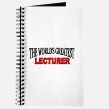 """The World's Greatest Lecturer"" Journal"