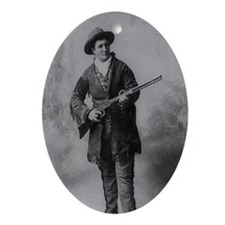 Calamity Jane B/W Oval Ornament