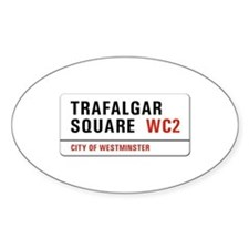 Trafalgar Square, London - UK Oval Decal