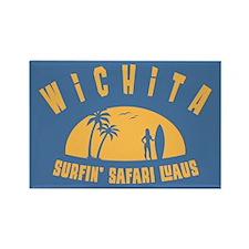 Surfin' Wichita Rectangle Magnet