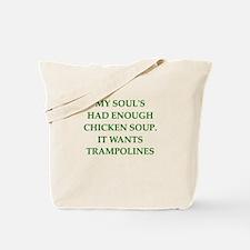 trampoline joke Tote Bag