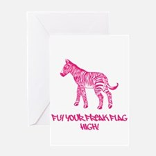 Be Unique Pink Greeting Card