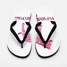 Be Unique Pink Flip Flops