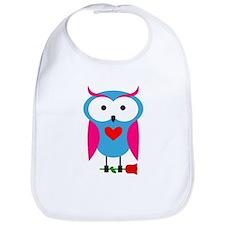 Owl with flower Bib