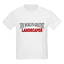 """The World's Greatest Landscaper"" Kids T-Shirt"