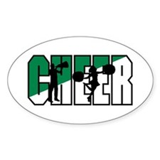 Cheer Oval Decal