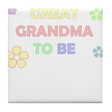 GREAT GRANDMA TO BE Tile Coaster