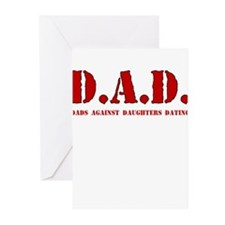 DAD DADS AGAINST DAUGHTERS DATING Greeting Cards (