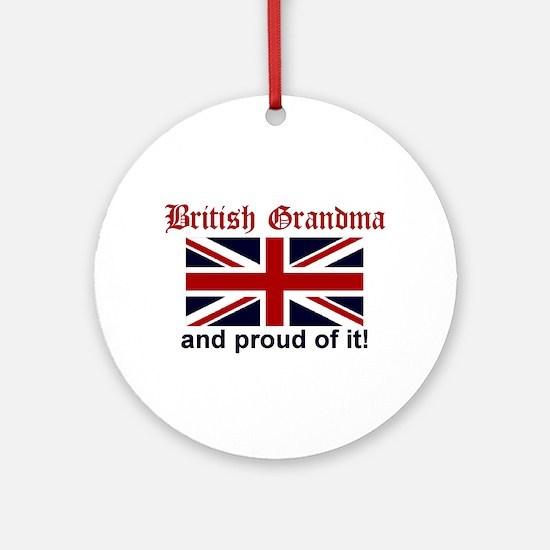 British Grandma Ornament