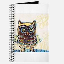 baby owl yellow Journal