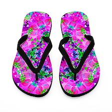 Pretty Flowers Pink Flip Flops