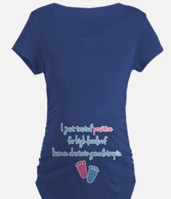 Funny Positive hCG Maternity T-Shirt
