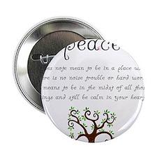 "Peace Mantra 2.25"" Button"