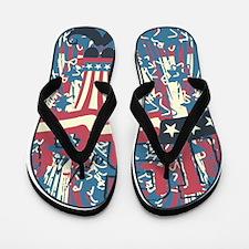 USA Patriotic Flip Flops