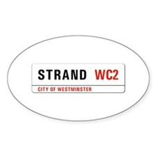 Strand, London - UK Oval Decal