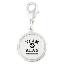 Team Alan Silver Round Charm