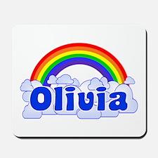 """""""Olivia Rainbow"""" Mousepad"""