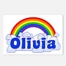 """""""Olivia Rainbow"""" Postcards (Package of 8)"""